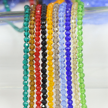 ZHUBI Wholesale Cheap Ball 2/3/4mm 32 Faceted Round Crystal Glass Beads Chinese Beading for Necklace and Bracelet DIY Making