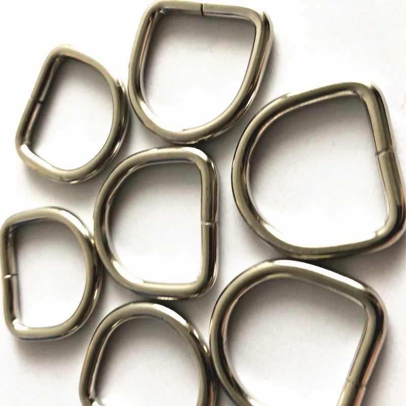 """80 шт. 1 """"25 мм Серебряное металлическое кольцо D сверхмощная металлическая d-образная Пряжка несварная обвязочная сумка альпинистский рюкзак аксессуары"""