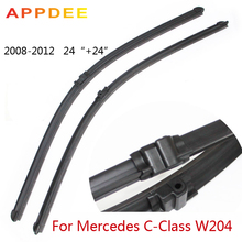 24''+24'' Pair Windscreen Wipers Blades For Mercedes Benz C Class W204, 2008-2012 Windshield Natural Rubber Window Accessories