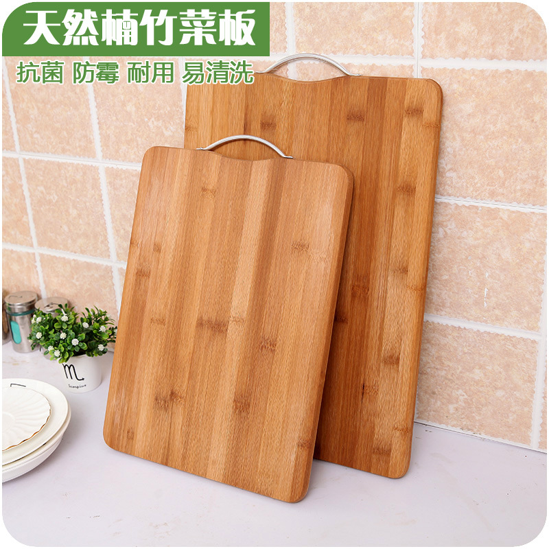 Block Board Solid Wood Board ~ Antibacterial bamboo chopping block natural nanzhu