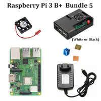 """Kit de démarrage Raspberry Pi 3 modèle B + avec boîtier officiel 3.5 """"LCD écran tactile alimentation 5 V 3A dissipateur thermique pour RPi 3 modèle B Plus"""
