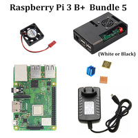 Starter Kit Raspberry Pi 3 Model B+ With Offical Case 3.5 LCD Touch Screen Power Supply 5V 3A Heatsink for RPi 3 Model B Plus