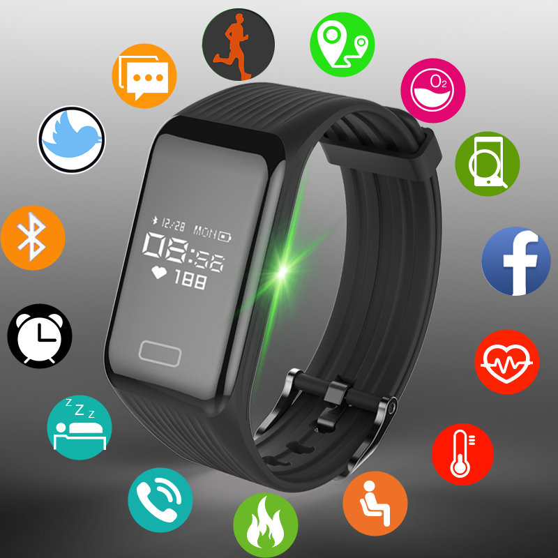 New Fitness Tracker Smart Bracelet Real-time Heart Rate Monitor down to sec Charging 2 hours Useing 1 weeks waterproof Watch