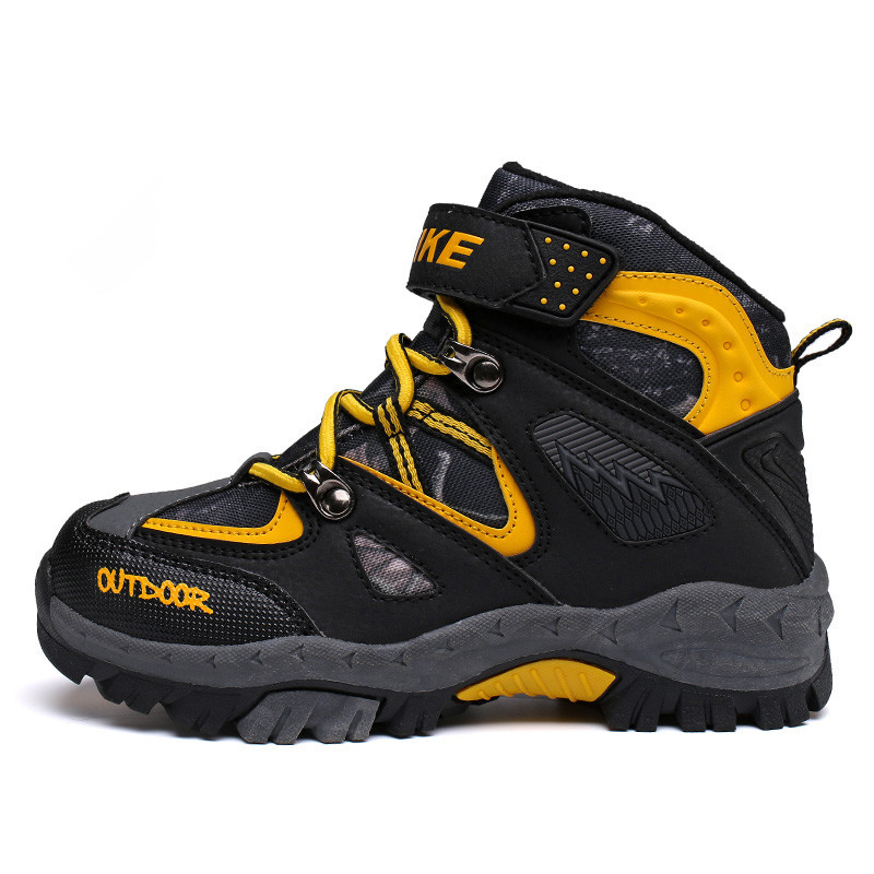 Winter warm children climbing shoes outdoor children snow shoes Anti-skid design Comfortable and waterproof Boy shoes Size 31-40 multifunctional professional handle pulley roller gear outdoor rock climbing tyrolean traverse crossing weight carriage fit