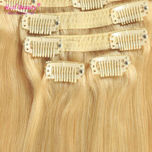 Clip In Brazilian Hair Extensions Full Head Set 120-160g Straight Human Hair Extensions Clip Ins Natural Hair Clip Extensions