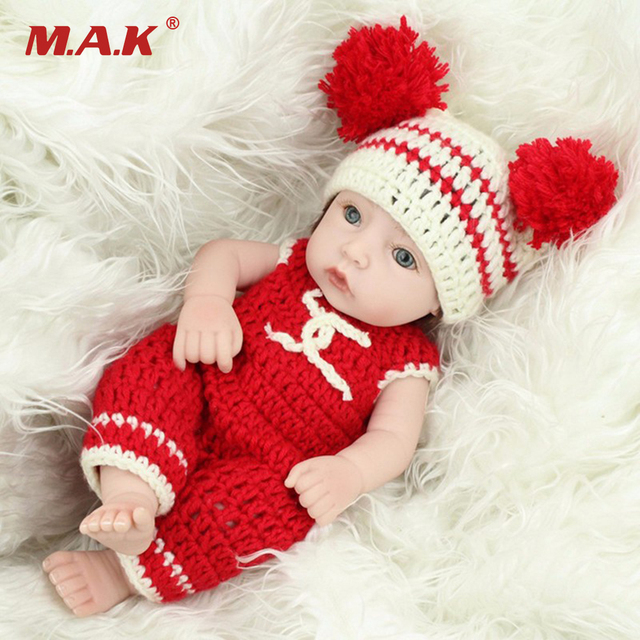 "28cm Newborn Baby Model Toys Real Looking Realistic Reborn Vinyl Silicone Dolls  11"" Girl Baby Model   Gifts Collections"