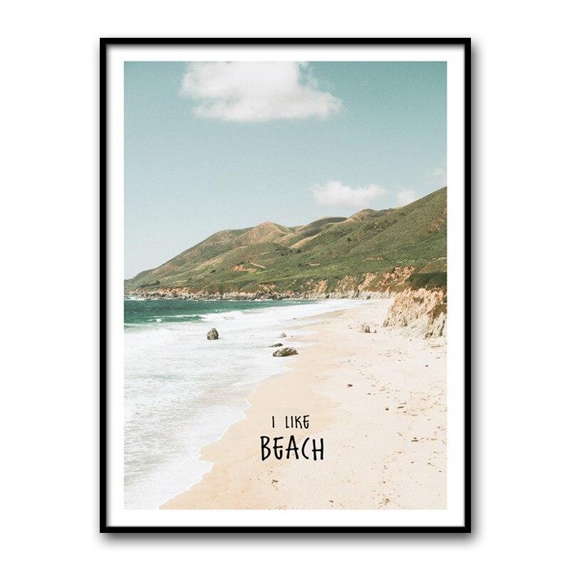 Pantai Laut Pemandangan Kanvas Lukisan Dinding Gambar Seni Modern
