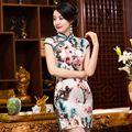 Novelty Summer Noble Chinese Women Mini Cheongsam Hot Sale Satin Qipao Dress Vestido Size S M L XL XXL 245987