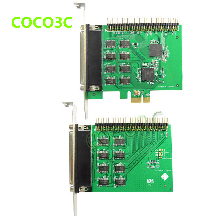 16 Ports Serial PCI Express controller card PCI-e to multi RS-232 DB9 Ports converter for Industrial automation XR17V358 Chipset (4)
