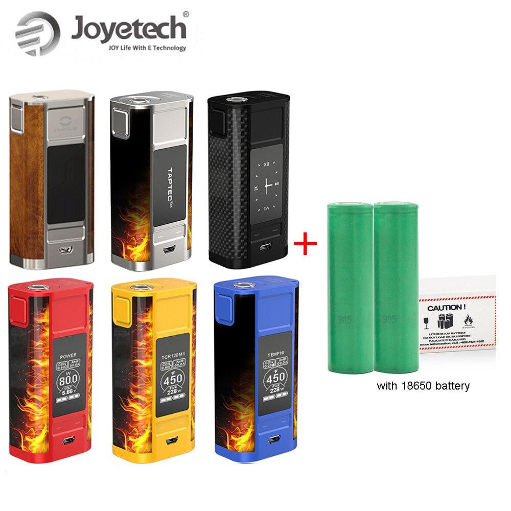 Joyetech Original cuboïde robinet boîte Mod avec écran OLED 228 W batterie Kit double 18650 inclus Cigarette électronique grande vente!