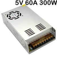 5V 60A 300W Switching Power Supply Driver AC 100 240V Input to DC 5V Power adapter For LED display Strip