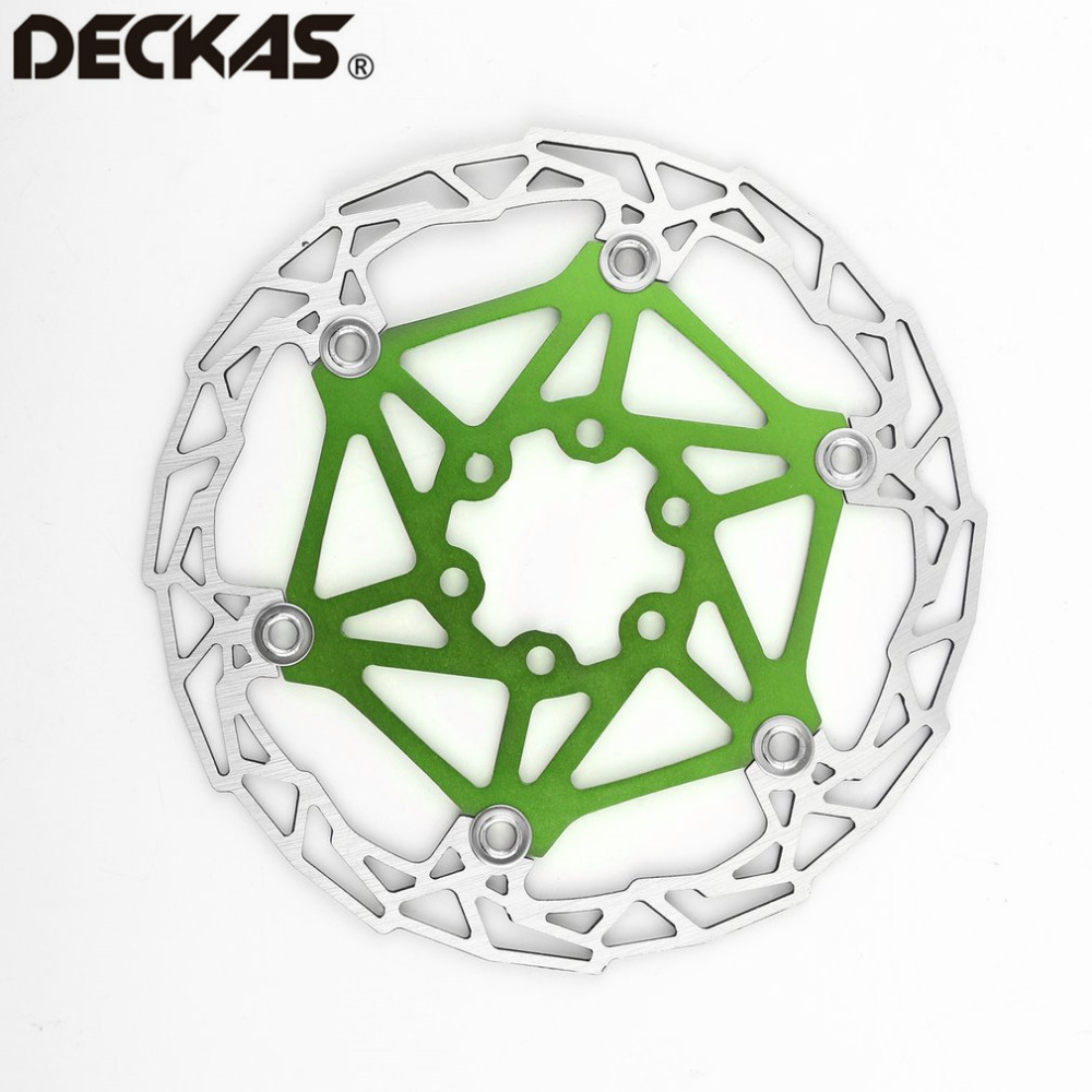 7Color DECKAS Ultra-light MTB Mountain Bike Brake Disc Float Floating Pads 160mm 6 Bolt Rotors Parts Bicycling Accessories
