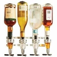Wall Mounted 4 station Liquor Wine Dispenser Machine Bar Butler Drinking Pourer Home Bar Tools For Beer Soda Coke Fizzy Soda