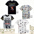 High quality youth fashion 3D cartoon style digital print short sleeve round neck boy T shirt 11-19 years old