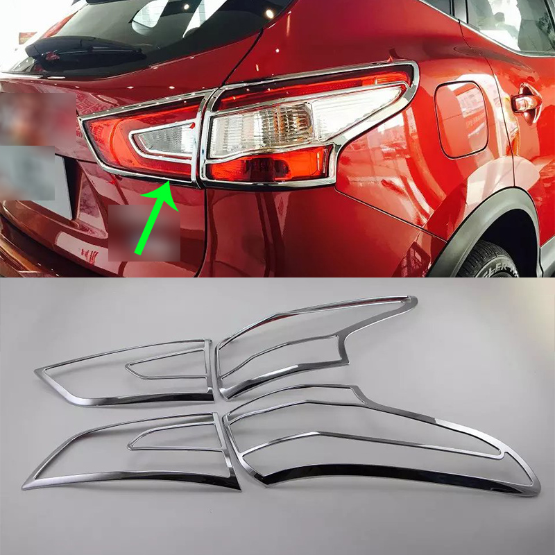 OUBOLUN extérieur de voiture accessoires De Voiture corps kits ABS chrome feu arrière de couverture Pour Nissan Qashqai 2016