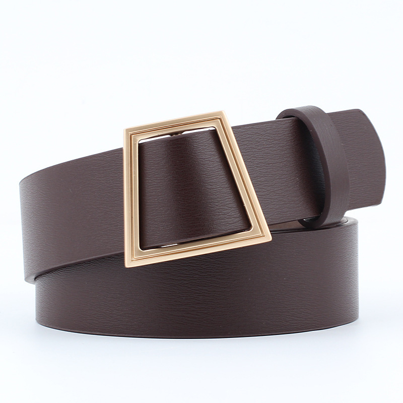 Fashion Smooth Buckle Nothing Needle Avoid Punch Belt Decoration Jeans Belt Woman Waist Belt