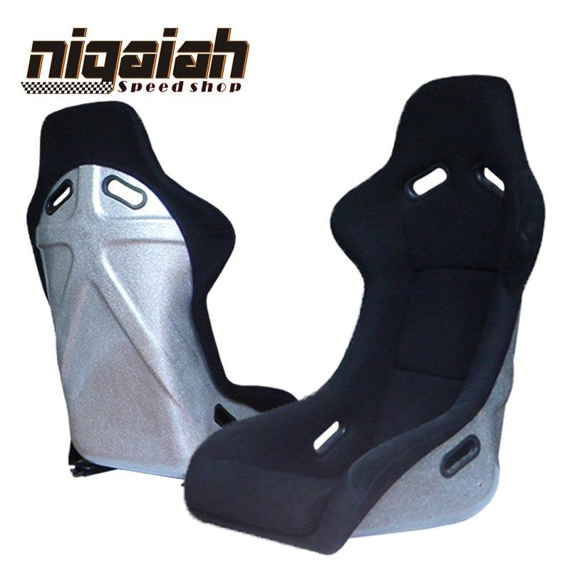 2 PCS/LOT OEM MJK seau et siège en fibre de verre non inclinable rouge/bleu/noir/jaune Sport siège de course siège de voiture dérive