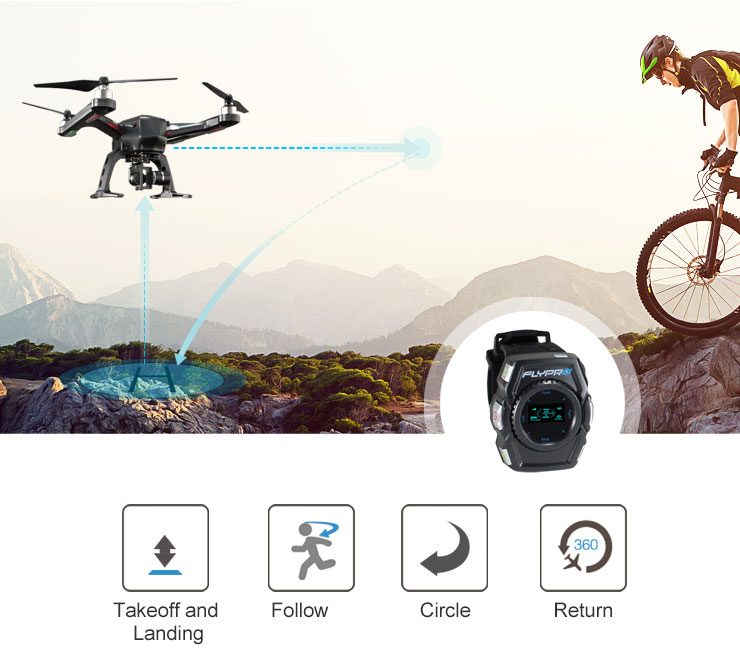 FLYPRO XEagle the Leader of Smart Watch UAV with GPS Auto Follow RC Quadcopter Lite Version