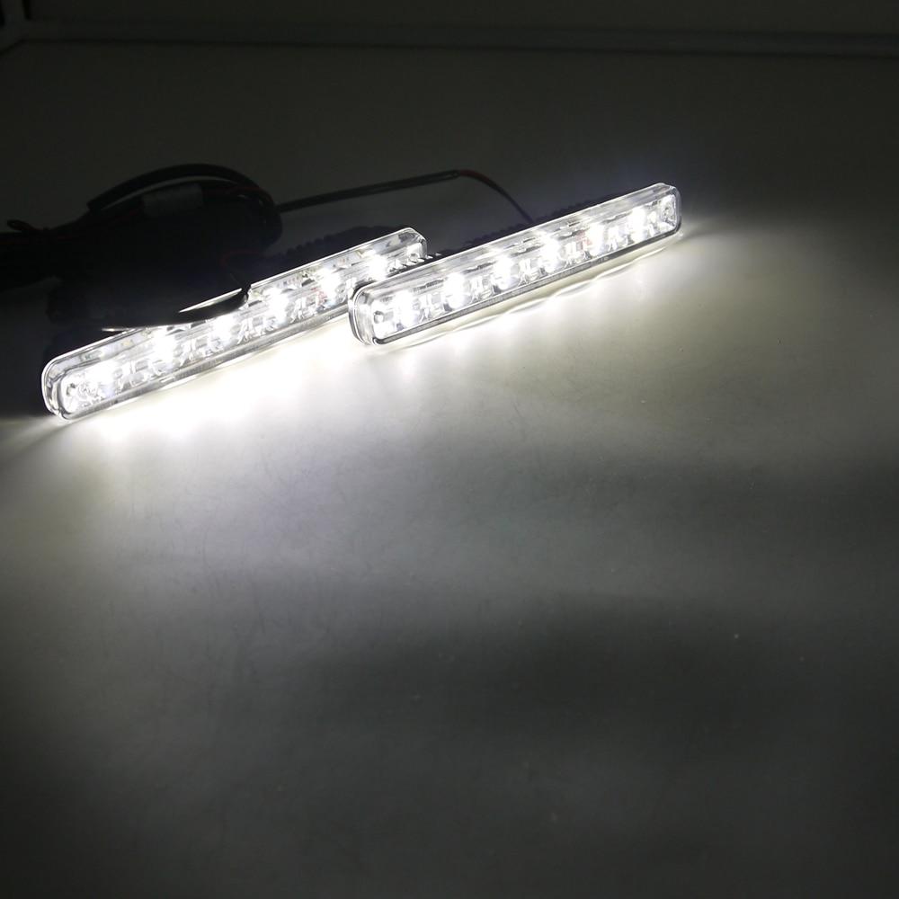 Eonstime 12V / 24V 2 հատ հատ DC White 6LED DRL Car Light LED - Ավտոմեքենայի լույսեր - Լուսանկար 6