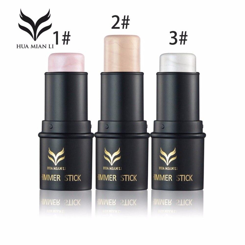 HUAMIANLI Natural Bronzing Highlight Contour Cream Pen Stick Concealer Long-lasting Waterproof Cosmetic Beauty Facial Makeup
