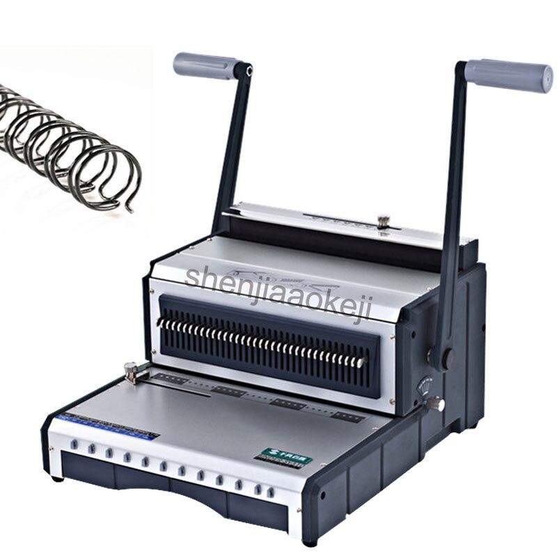 S310 fil machine à relier double poignée bobine calendrier poinçon machine manuel bureau machine à relier machine à relier 1 pc