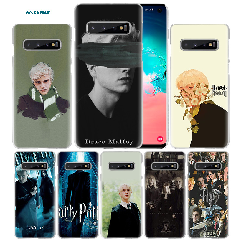 Draco Malfoy Case For Samsung Galaxy S10 5G S10e S9 S8 M30 M20 M10 J4 J6 Plus J8 2018 Note 8 9 Hard PC Luxury Coque Phone Cover