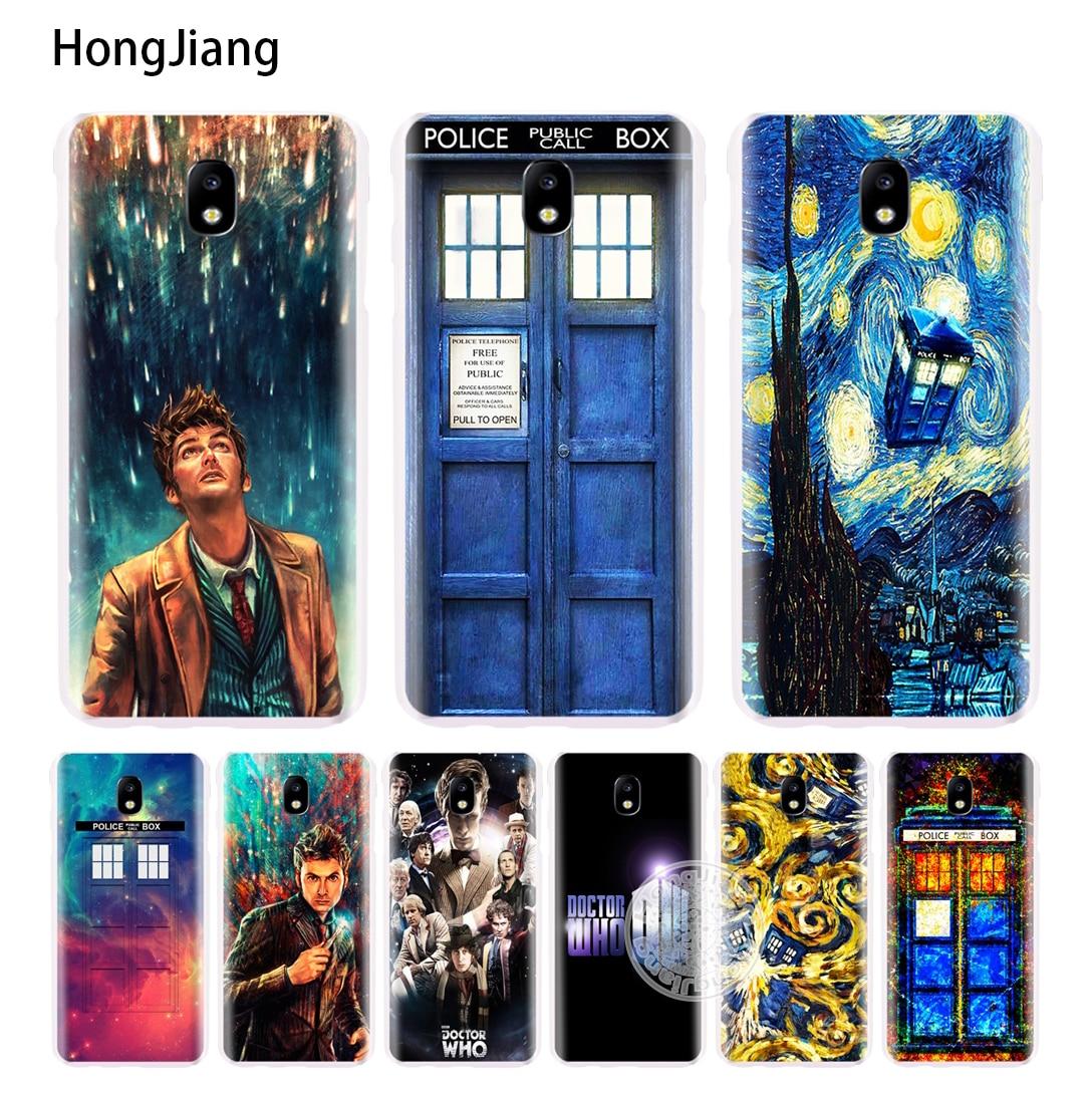 Hongjiang Доктор Кто Полиция Box вызова крышка телефона чехол для Samsung Galaxy J3 <font><b>J5</b></font> J7 2017 J527 J727 J327 J3 премьер J330 J530 J730