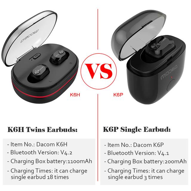 Dacom Bluetooth Earphone with 1100mAh Box
