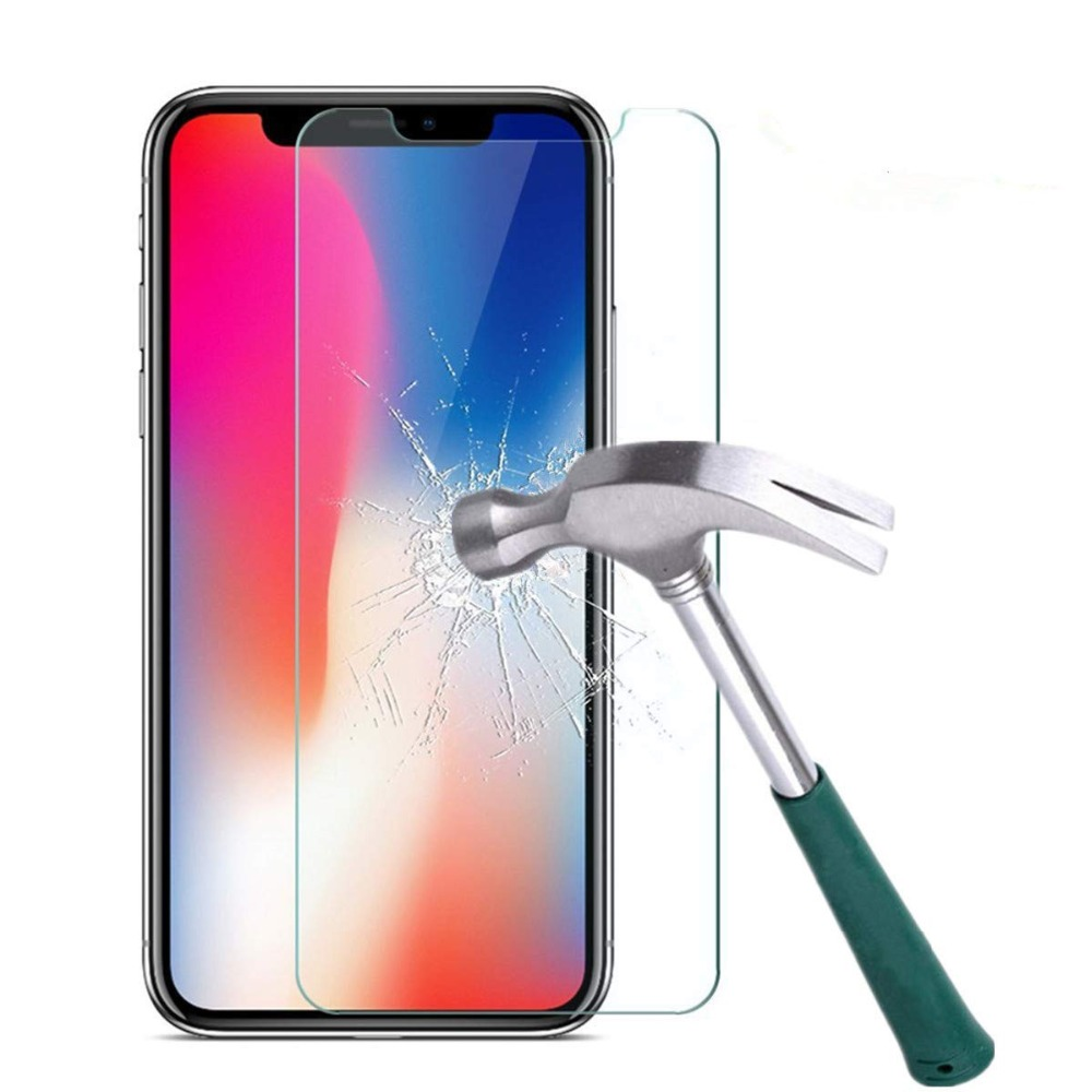 Tempered Glass For iPhone XS XR XS MAX Screen Protector Cover For iPhone 8 X 7 6 6S Plus 8 Plus 4 5 5S SE XS 6.1 6.5 5.8 inch