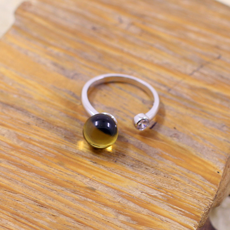 L&P Natural Mexico Amber Ring Vintage Handmade 925 Sterling Silver ring For Women,High Quality Gemstone Ring Anniversary Gift