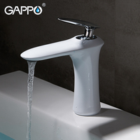GAPPO смеситель для раковины белый водопад смеситель для раковины Ванная раковина кран водопроводный кран ручка водопроводный кран Ванная ко...