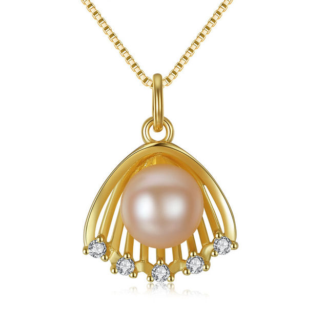 baguette haydon custom necklaces raleigh and shape pendants gold scallop karat round yellow jewelers jewelry co necklace nc