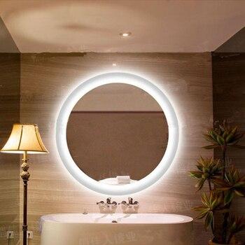 Anti sis ayna lambası banyo aynası yuvarlak led duvar ışık ayna su geçirmez banyo yatak odası duvar asılı ışıklar