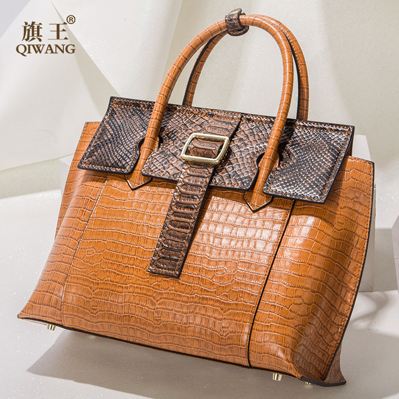 Qiwang High end leather Bag Women Designer Shoulder Bag Amazing Quality Genuine Leather Handbags Elegant Firmly