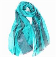 super thin 100% ring goat cashmere women patchwork scarfs shawl pashmina 90x200cm green 5color