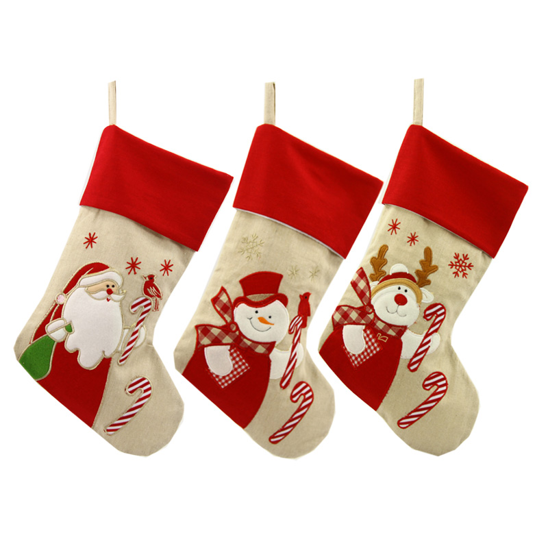 Free shipping! New 3pcs/set Christmas Stocking Santa Claus ...