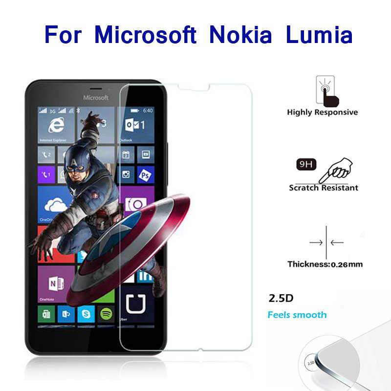 9H الزجاج المقسى واقي للشاشة فيلم ل مايكروسوفت نوكيا Lumia 550 640 535 950 930 830 735 630 635 430 435 530 540 532 حالة