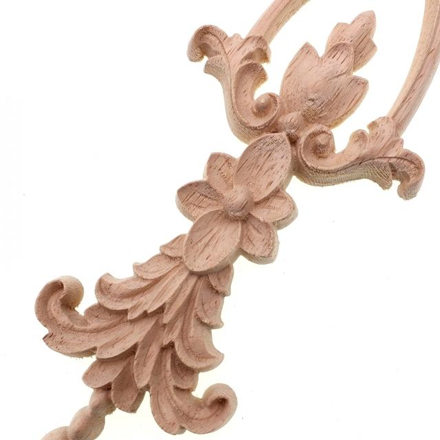Lonf Floral Carved Furniture Ornament