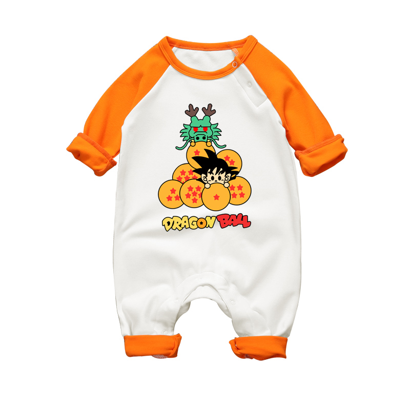 Anime Dragon Ball Baby Romper Long Sleeve Baby Body Clothing Cotton 2017 Autumn Winter newborn Baby Boy Girl Jumpsuit Clothes cute baby elephant print romper baby boy girl clothing newborn cotton long sleeve romper jumpsuit 2017 new baby clothing outfits