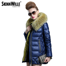 2016 women's down coat medium-long loose women's outerwear