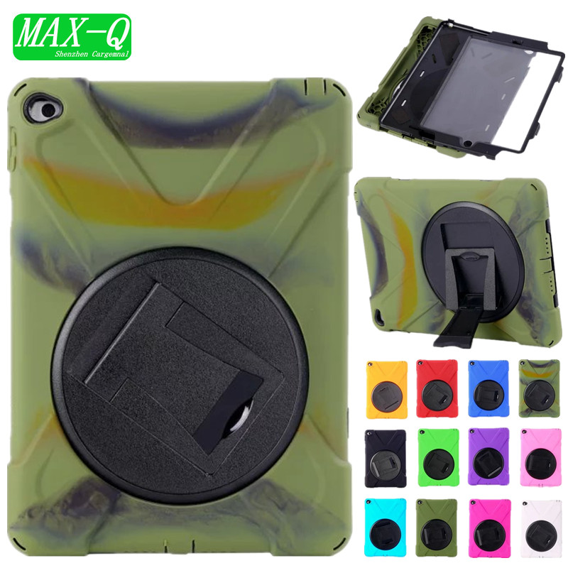 NEW 3 in 1 Hybrid Rubber Rugged Combo Matte Shockproof Duty silicon Case with Stand For iPad 6 cover for ipad air 2