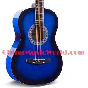 38 inch Blue Acoustic/ Basswood plywood Back & Sides/ AFANTI Acoustic guitar (ACM-166)