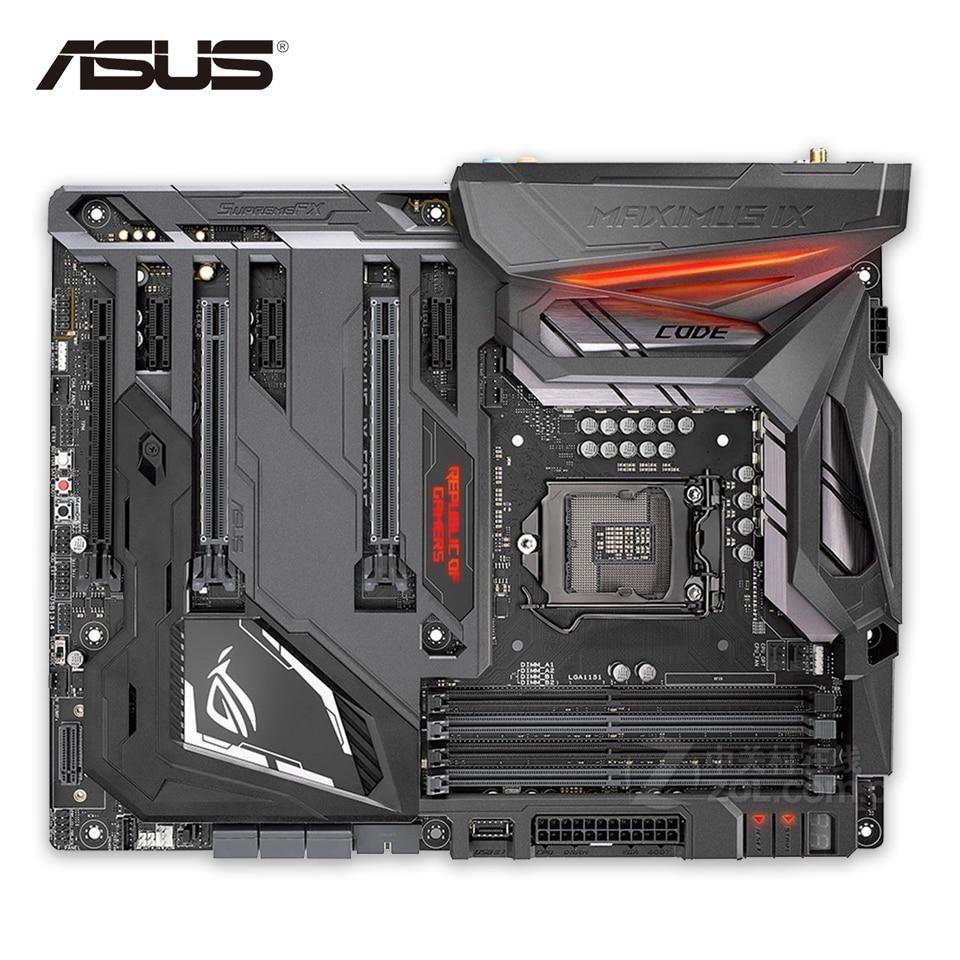 Asus ROG MAXIMUS IX CODE Original New Desktop Motherboard Z270 LGA 1151 DDR4 64G SATA3 USB3.1 ATX страна игрока rog maximus ix code m9c материнская плата встроенный wifi intel z270 lga 1151
