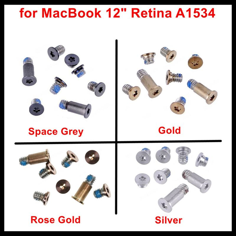 Faishao 1Set 5Sets 10Sets Bottom Case Cover Screws Silver/Gold/Space Grey/Rose Gold For MacBook 12
