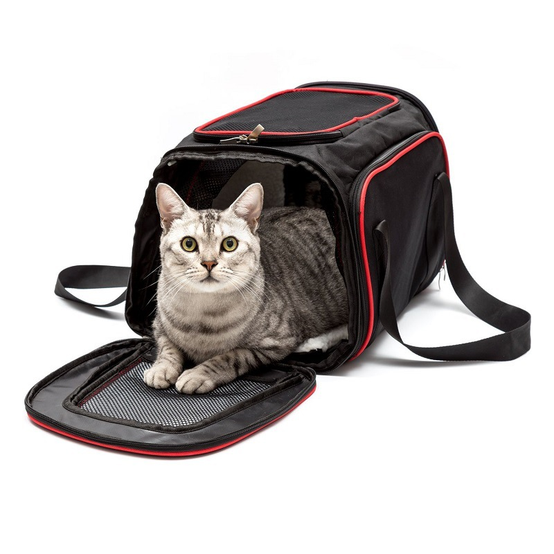 Expandable Cat Carrier Pet Carrier For Puppy Cats Soft Sided Crate Airline Approved Kennel Car Travel