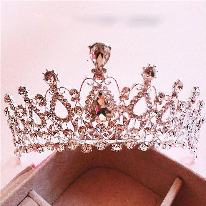 Gorgeous Silver Crystal Bridal Tiara Crown Rhinestone Pageant Crowns Wedding Hair Accessories Bride Hairbands Princess Headwear