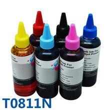 T0811n 81n заправка чернила для принтера для epson stylus photo tx700/tx800/t50/tx710w/tx650/tx810fw/t59/tx820fwd/rx615/r270/r290