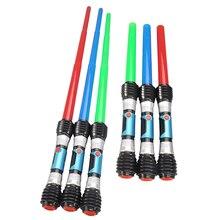 New Sound Light Laser Sword Lightsaber Cosplay Children Flashing Toys Boy Girl Gift Luminescent Music Telescopic Laser Sword все цены