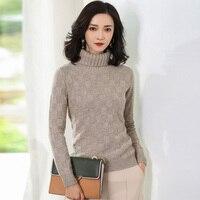 JECN New 2017 Autumn Winter Fashion Women Warm Cashmere Loose Sweaters Casual Turtleneck Women Long Sleeve