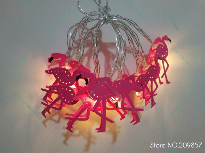 New 10 LED Pink Gift Girl Bedroom Flamingo Decoration String Lights Patio  Lamp Fairy Party Decor Home Kids Baby Holiday Lighting In Party DIY  Decorations ...